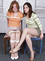 Cutie roped and humiliated by her girlfriend