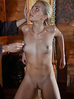 Blondie gets roped, whipped, waxed and fucked